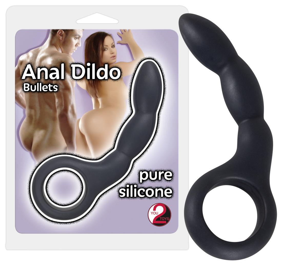 Bullet - silikónové análne dildo (grafit)