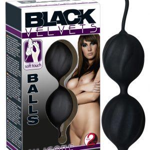 Black Velvet zvlnené duo gejša guličky