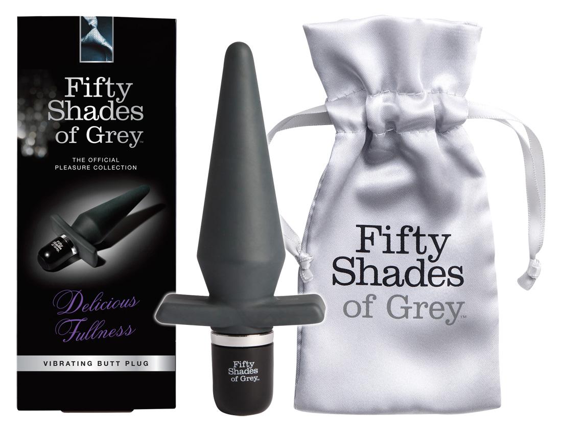 Fifty Shades og Grey Delicious Fullness - vibračný análny kolík