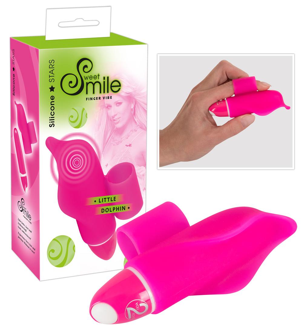 SMILE Little Dolphin - prstový vibrátor (fialový)