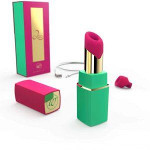 Womanizer 2GO - stimulátor klitorisu (magenta-zelený)