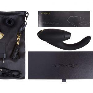 Womanizer Inside Out - vibrátor a stimulátor klitorisu (čierny)