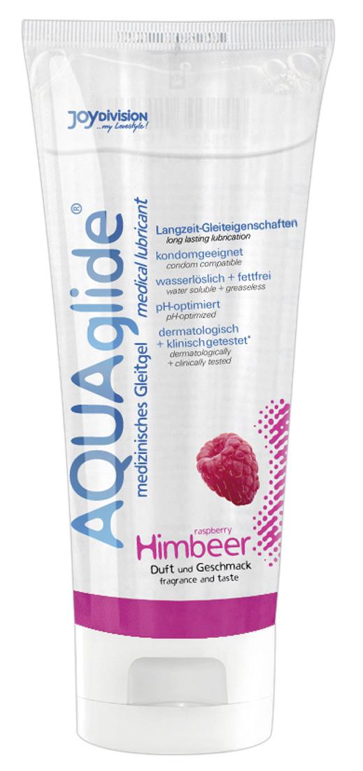 JoyDivision AQUA Glide Himbeer - lubrikačný gél na báze vody malinový (100ml)