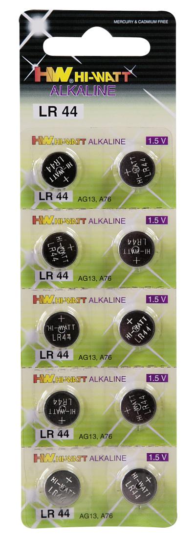 HW Hi Watt Alkaline LR44 - alkalické gombíkové batérie LR44 (10ks)