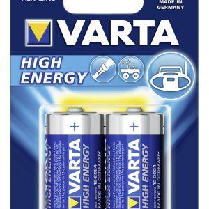 Varta Alkaline High Energy C - alakické batérie typu C (2ks)