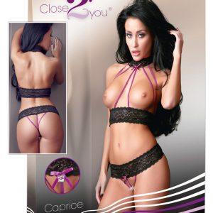 Close2you - Caprice čipková súprava (čierna)