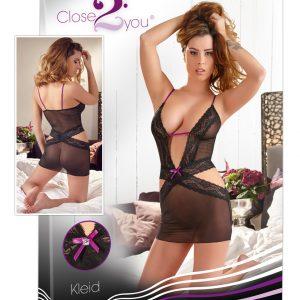 Close2You Kleid – čipkované mini šaty (čierne)