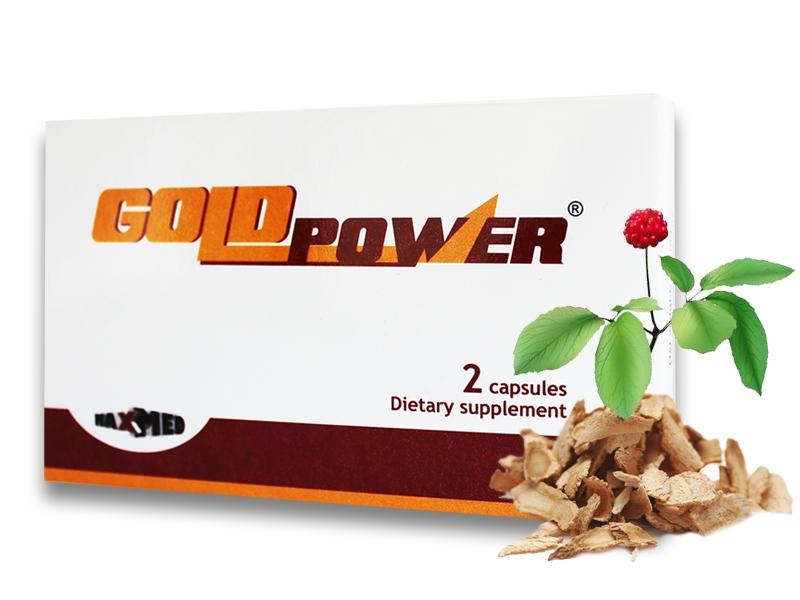 Gold Power - kapsule pre mužov (2 ks)