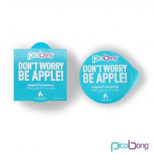 Picobong Don´t Worry Be Apple! – masážna sviečka (jablko-škorica)