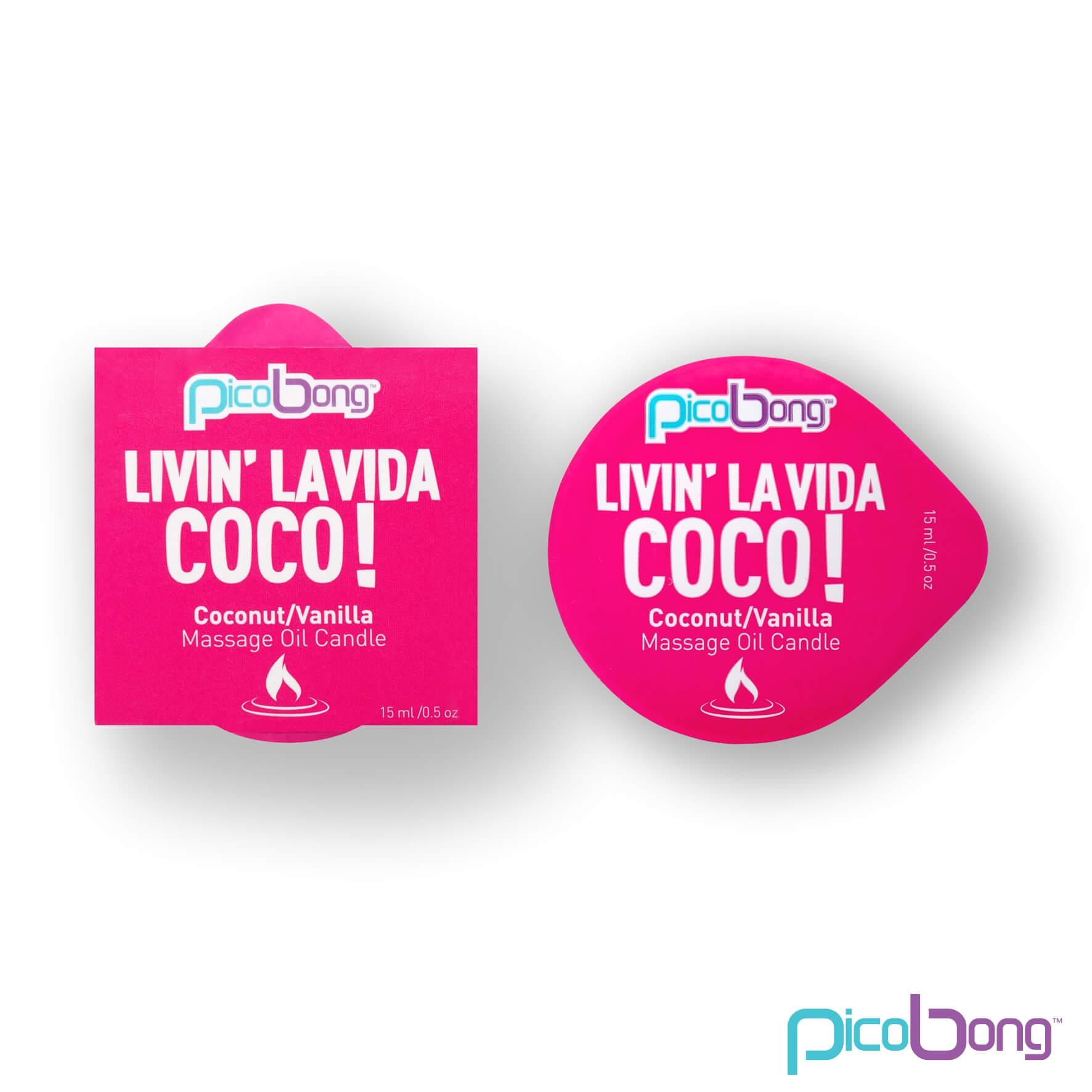 Picobong Don´t Worry Be Apple! – masážna sviečka (kokos-vanilka)