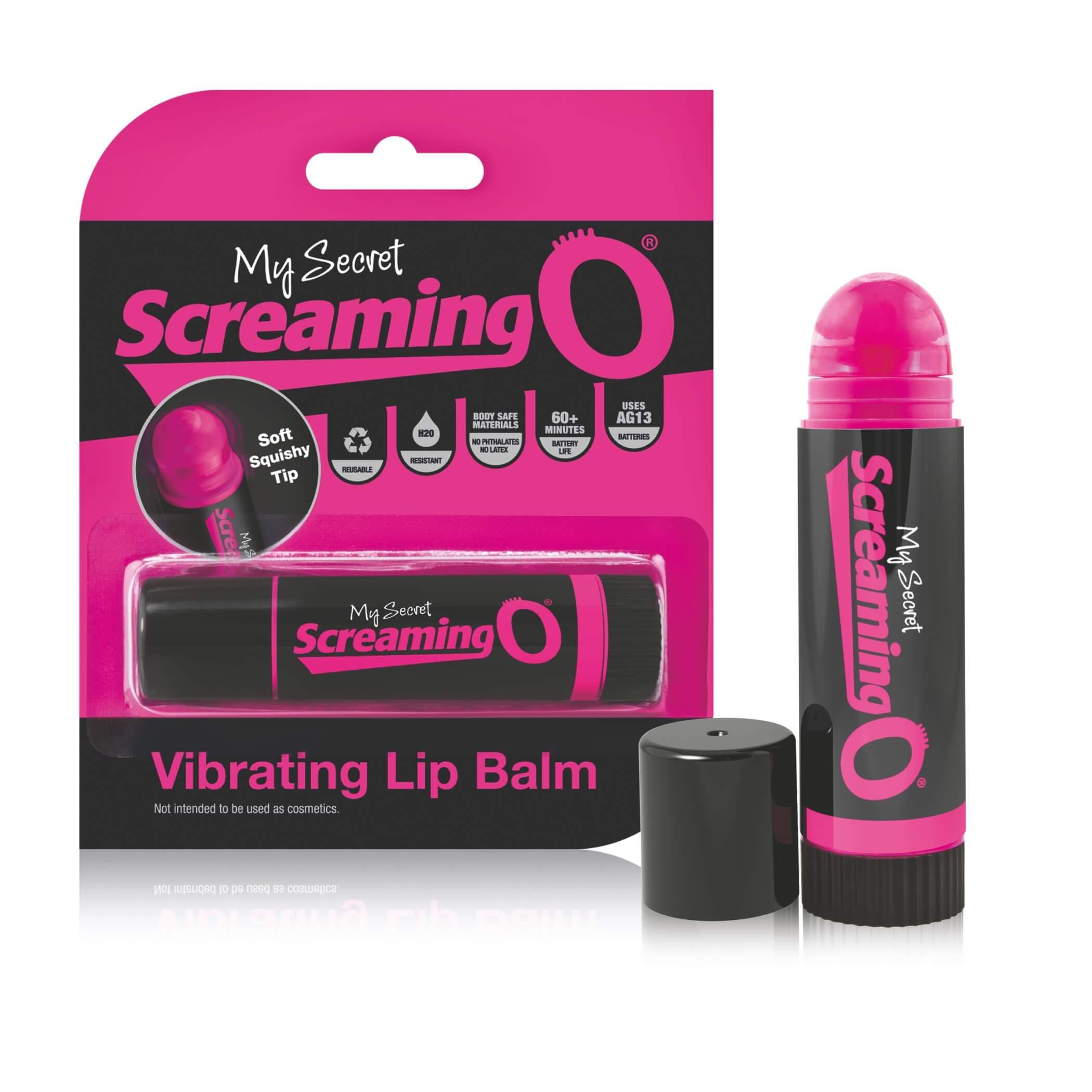 My Secret Screaming O Vibrating Lip Balm – vibrátor v tvare rúžu (pink-čierny)