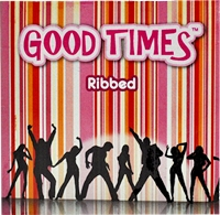 Good Times Ribbed - kondómy s rebrovitým povrchom (3 ks)